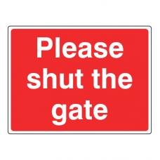 Please Shut The Gate Farm Sign (Large Landscape)