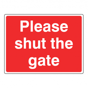 Please Shut The Gate Farm Sign (Large Landscape)