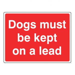 Dogs Must Be Kept On A Lead Farm Sign (Large Landscape)