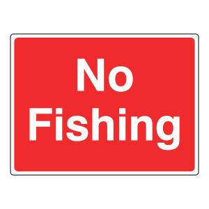 No Fishing Farm Sign (Large Landscape)
