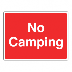 No Camping Farm Sign (Large Landscape)