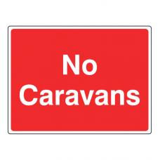 No Caravans Farm Sign (Large Landscape)