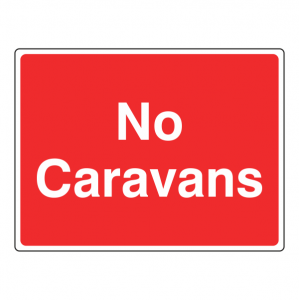 No Caravans Farm Sign (Large Landscape)