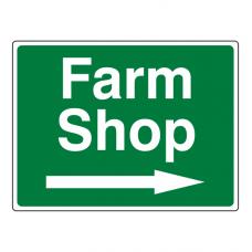 Farm Shop Arrow Right Sign (Large Landscape)