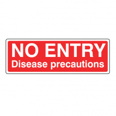 No Entry Disease Precautions Sign (Landscape)