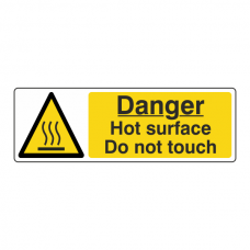 Danger Hot Surface Do Not Touch Sign (Landscape)
