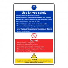 Use Knives Safely Sign