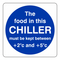 The Food In This Chiller Sign (Square)