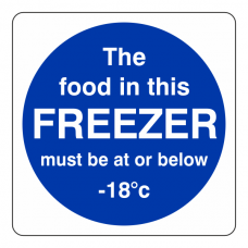 The Food In This Freezer Sign (Square)