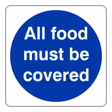 All Food Must Be Covered Sign (Square)