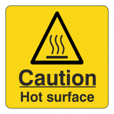 Caution Hot Surface Sign (Square)