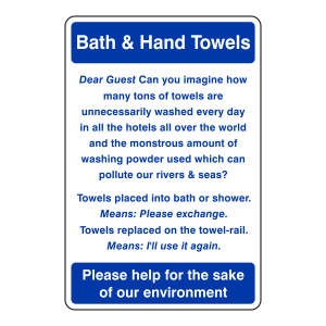 Bath And Hand Towels Sign