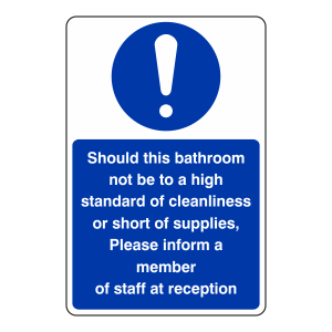 Bathroom Cleanliness Sign