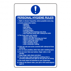 Personal Hygiene Rules Sign