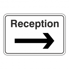 Reception Arrow Right Sign (Large Landscape)