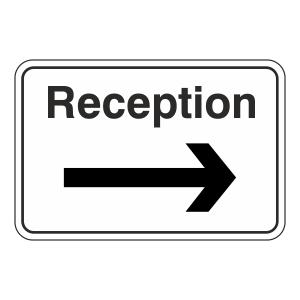 Reception Arrow Right Sign (Large Landscape)