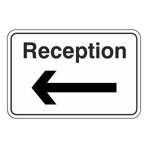 Reception Arrow Left Sign (Large Landscape)