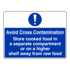Avoid Cross Contamination Sign (Large Landscape)