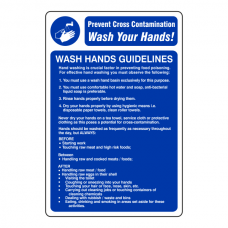 Wash Hands Guidelines Sign