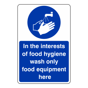 Wash Only Food Equipment Sign