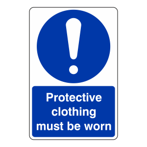 Protective Clothing Must Be Worn Catering Sign