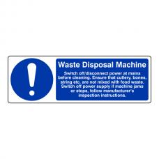 Waste Disposal Machine Sign (Landscape)