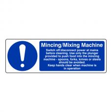 Mincing / Mixing Machine Sign (Landscape)