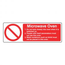 Microwave Oven Sign (Landscape)