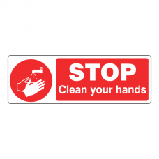 STOP Clean Your Hands Sign (Landscape)