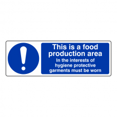 This Is A Food Production Area Sign (Landscape)
