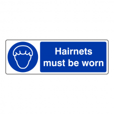 Hairnets Must Be Worn Sign (Landscape)