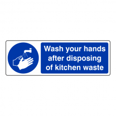 Wash Hands After Disposing Waste Sign (Landscape)
