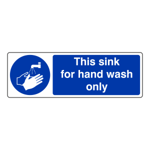 This Sink For Hand Wash Only Sign (Landscape)