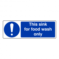 This Sink For Food Wash Only Sign (Landscape)