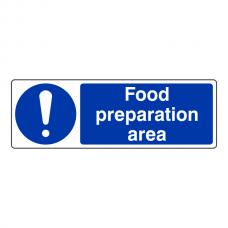 Food Preparation Area Sign (Landscape)