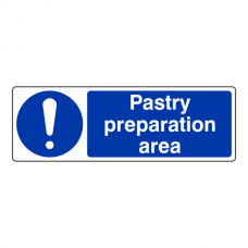 Pastry Preparation Area Sign (Landscape)