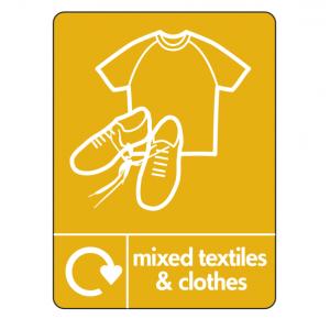 Mixed Textiles & Clothes Recycling Sign (WRAP)