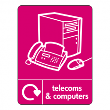 Telecoms & Computers Recycling Fax Sign (WRAP)