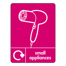 Small Appliances Recycling Hair Dryer  Sign (WRAP)