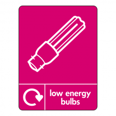 Low Energy Bulbs Recycling Sign (WRAP)