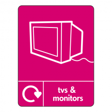 TVs & Monitors Recycling Sign (WRAP)