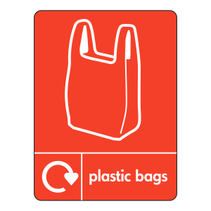 Plastic Bags Recycling Sign (WRAP)