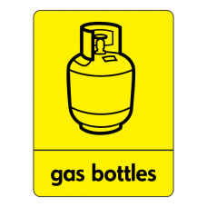 Gas Bottles Recycling Sign (WRAP)
