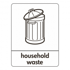 Household Waste Recycling Sign (WRAP)