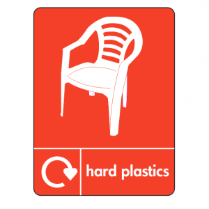 Hard Plastics Recycling Sign (WRAP)