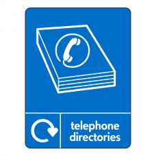 Telephone Directories Recycling Sign (WRAP)