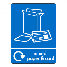 Mixed Paper & Card Recycling Sign (WRAP)