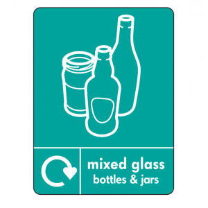 Mixed Glass Recycling Sign (WRAP)