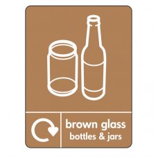 Brown Glass Recycling Sign (WRAP)