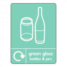 Green Glass Recycling Sign (WRAP)